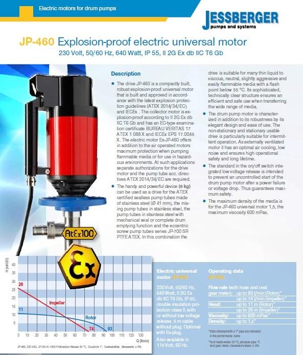 JP-460 Atex motor